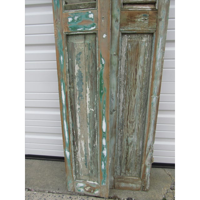 Rustic French Shutters- A Pair - Image 6 of 8