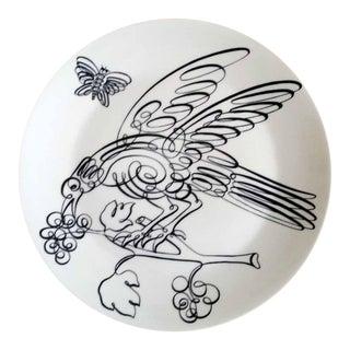 Vintage Piero Fornasetti Uccelli Calligrafici Bird Plate
