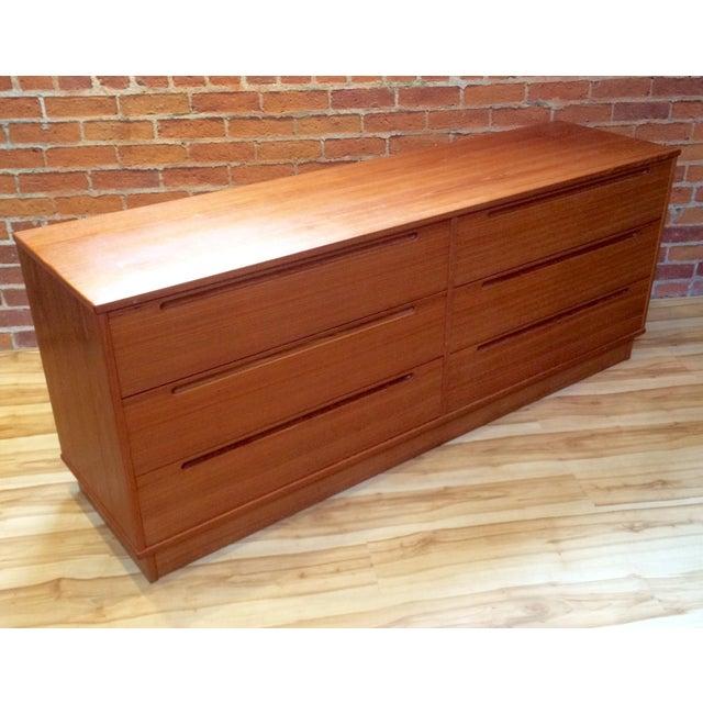 Danish Modern Teak Six-Drawer Dresser - Image 5 of 7