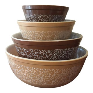Pyrex Mixing Bowls Woodland - Set of 4
