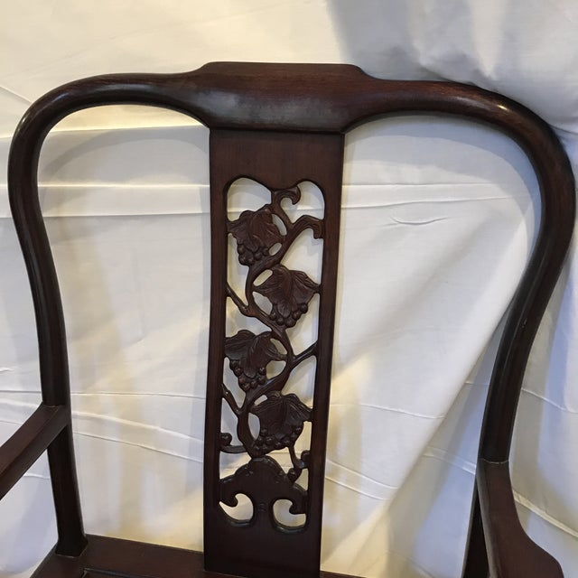 Ling Chi Rosewood Dining Table & 8 Chairs Set - Image 7 of 10