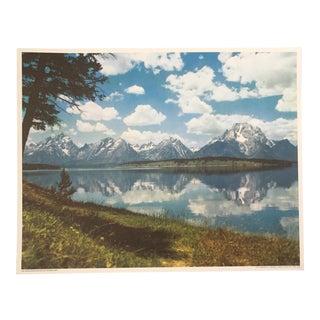 """The Teton Range Reflects in Jackson Lake"" Print"