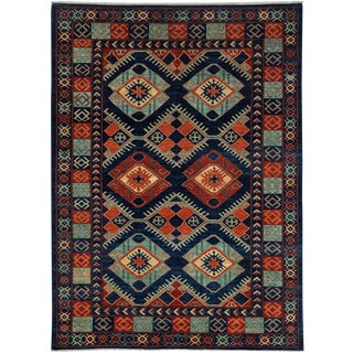 "Ersari, Hand Knotted Tribal Wool Area Rug - 6' 2"" X 8' 5"""