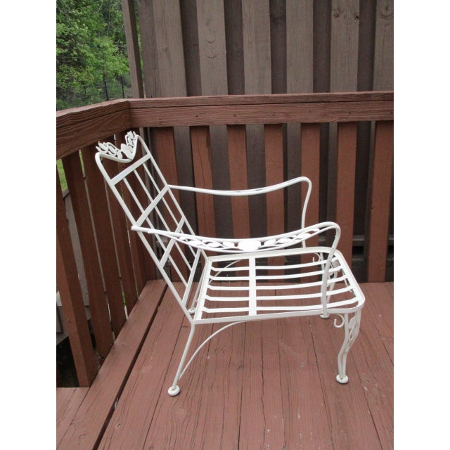 Vintage Russell Woodard Wrought Iron Chairs - Pair - Image 6 of 11