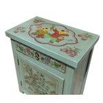 Image of Oriental Pastel Blue Kid Scenery Side Table