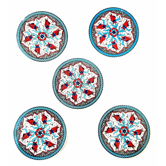 Turkish Handmade Coasters - Set of 5 - Image 1 of 3