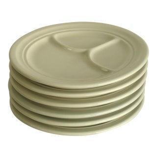 Vintage White Divided Restaurant Ware Plates - Set of 6