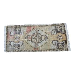 Antique Turkish Wool Rug - 1′6″ × 3′3″