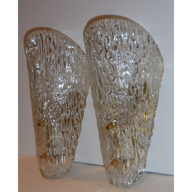 Vintage Textured Glass Sconces - Pair - Image 11 of 11