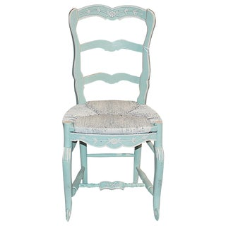 French Country Pale Blue Chair