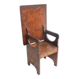 Folk Art Hand Made Wooden Chair/Table
