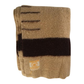 Camel and Brown Hudson's Bay Wool Blanket