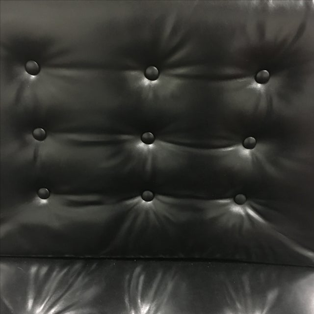 Black Leather & Chrome Chairs- A Pair - Image 8 of 8