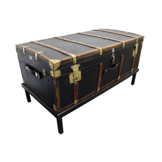 Antique Traveling Chest with Stand