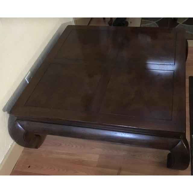Vintage Henredon Asian Burlwood Coffee Table - Image 5 of 8