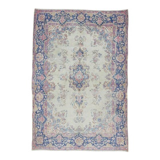 Antique Distressed Persian Kerman Rug - 7′ × 10′3″