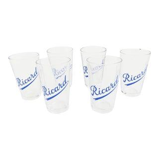 French Ricard Shot Glasses- Set of 6