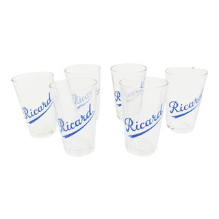 French Ricard Shot Glasses- Set of 6