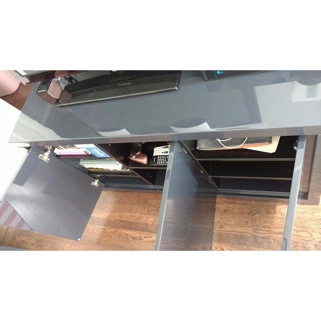 Medium Indigo Lacquered Cabinet Credenza - Image 7 of 8