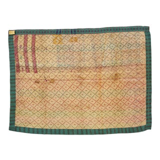Indian Reversible Hand-Stitched Kantha Patchwork Throw Blanket