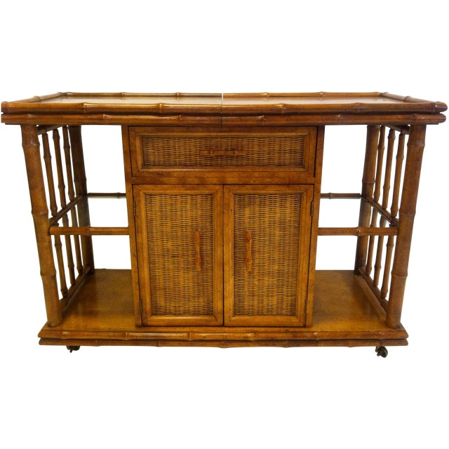 Image of American of Martinsville Faux Bamboo Server