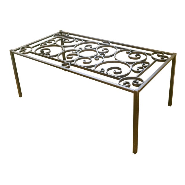 Pierre Deux Cast Iron Coffee Table Chairish