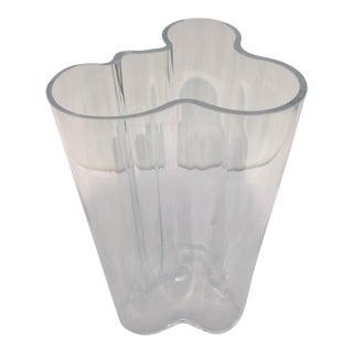 Alvar Aalto Clear Glass Vase