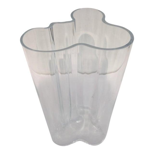 alvar aalto clear glass vase chairish. Black Bedroom Furniture Sets. Home Design Ideas