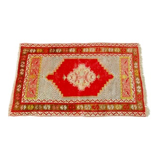 "Antique Turkish Prayer Rug - 3'2"" x 4'11"""