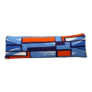 Mid-Century Vera Silk Scarf Bolster Pillow
