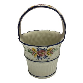 Hand Painted Ceramic Basket