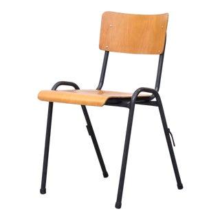 Birch Industrial Stacking School Chair