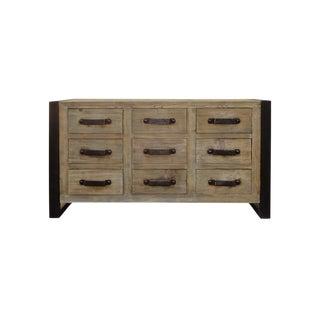 Rustic Wood & Iron Dresser Cabinet