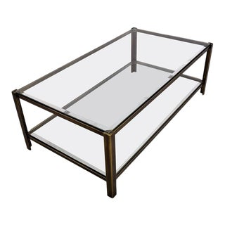 Maison Jansen Solid Brass Two-Tier Coffee Table