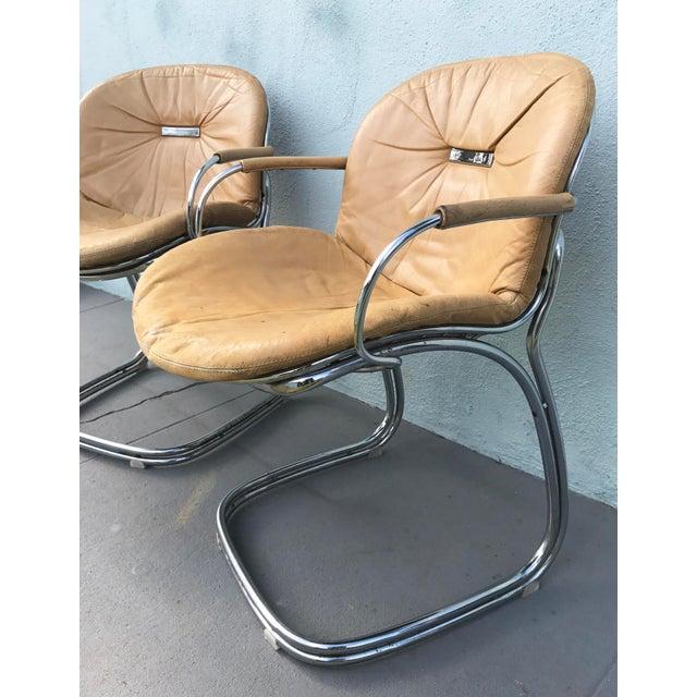 1970s Gastone Rinaldi for Rima Linea Chrome Tubular Chairs - A Pair - Image 4 of 9