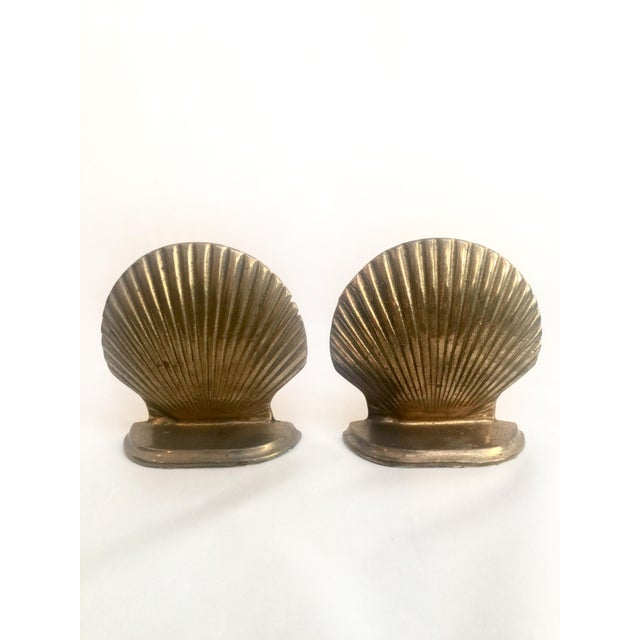 Brass Shell Bookends - Pair - Image 3 of 6