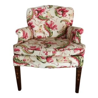 English Country Floral Accent Chair