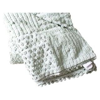 Vintage LL Bean Green Throw Blanket or Bedspread