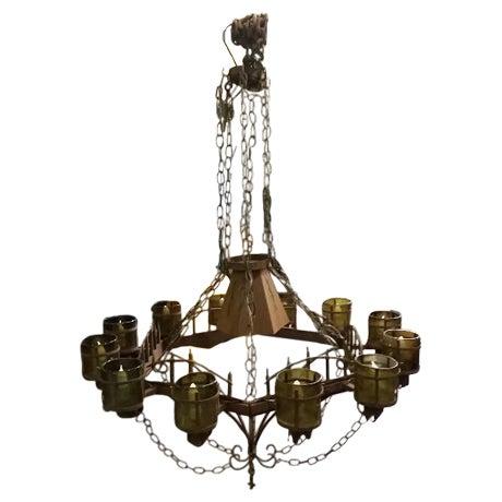 rustic wrought iron chandelier chairish