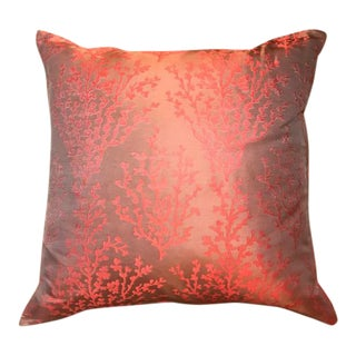 Coral Design Silk Pillow