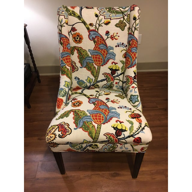 Colorful Reupholstered Slipper Chairs - A Pair - Image 3 of 8