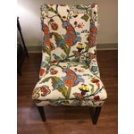 Image of Colorful Reupholstered Slipper Chairs - A Pair
