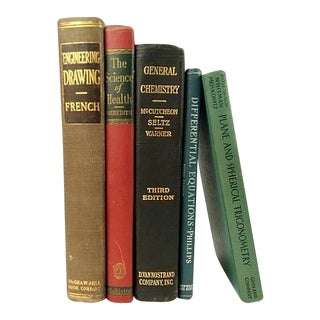Vintage Technical & Scientific Book Collection - Set of 5