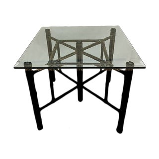 McGuire Bamboo & Glass Top Table