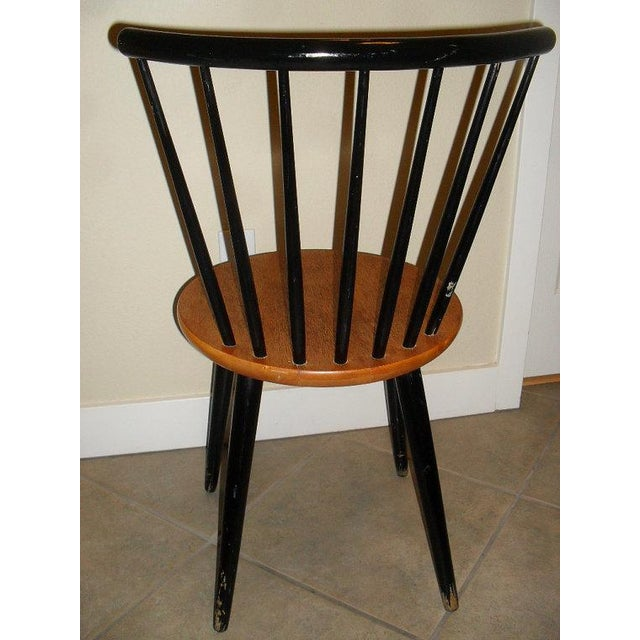 Image of Danish Modern 1950's Teak Spindle Back Chair