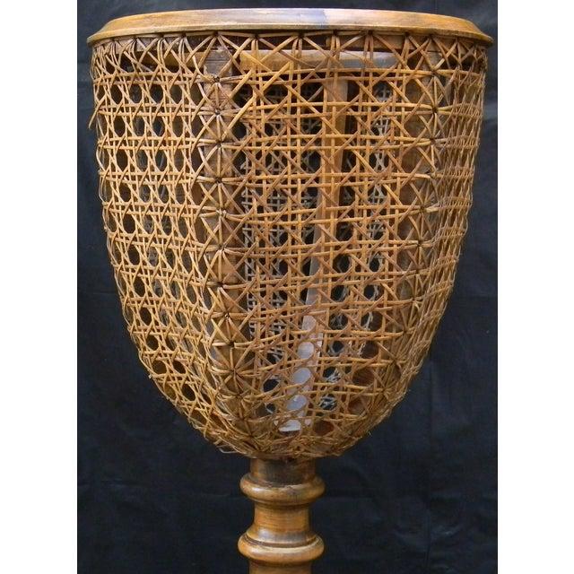 Image of Vintage Italian Pedestal Hand Caned Flower Urn