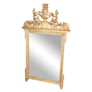 Elegant Wall Mirror in Gold Leaf Finish
