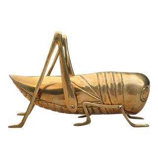 Mid-Century Solid Brass Cricket