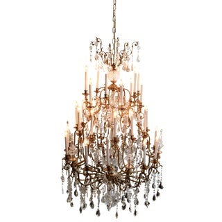 Grand Traditional Crystal Chandelier