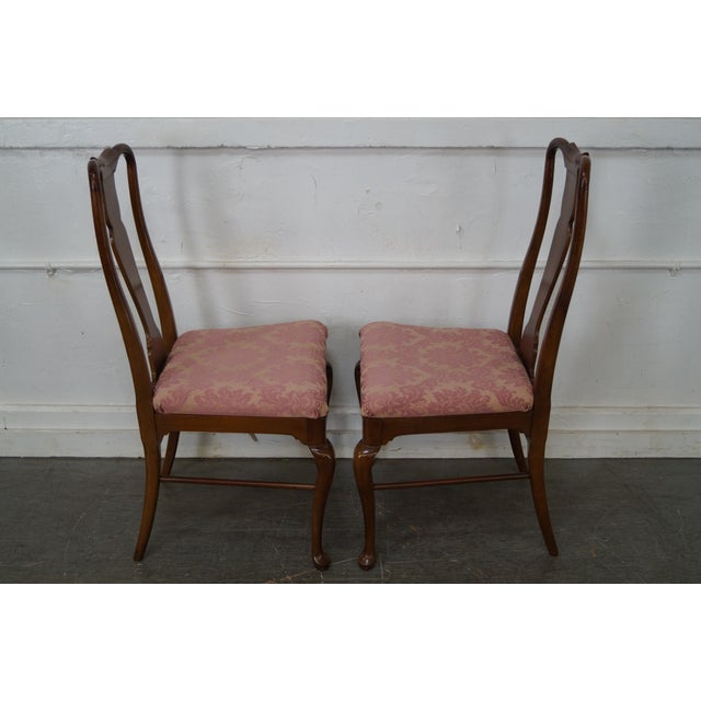 Thomasville Cherry Dining Room Set: Thomasville Cherry Wood Queen Anne Dining Chairs